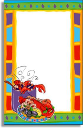 Invitations CLAMBAKE - SEAFOOD Invitations Colorful Crawfish